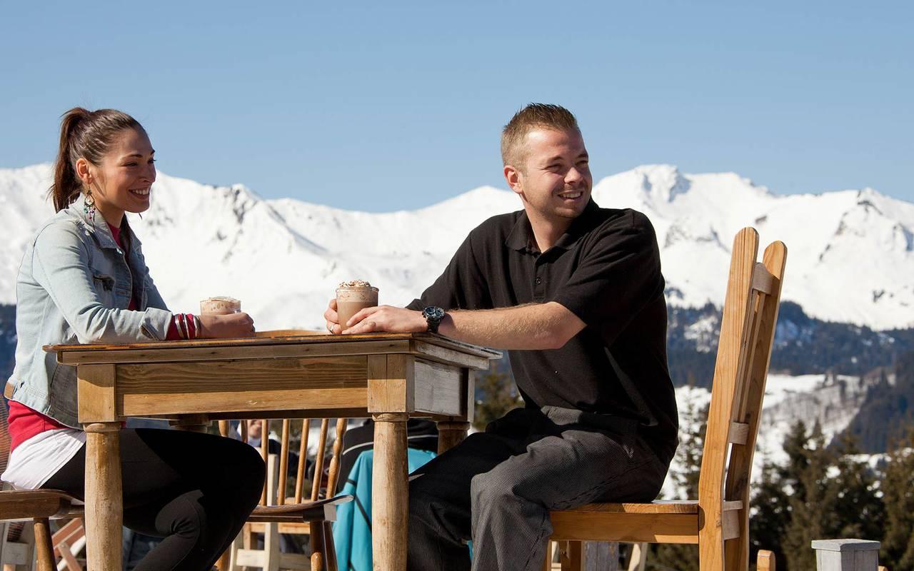 terrace moutains view alpes