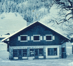 historic 1936 facade hotel la marmotte