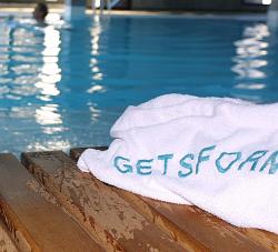 towel indoor swimming pool hotel
