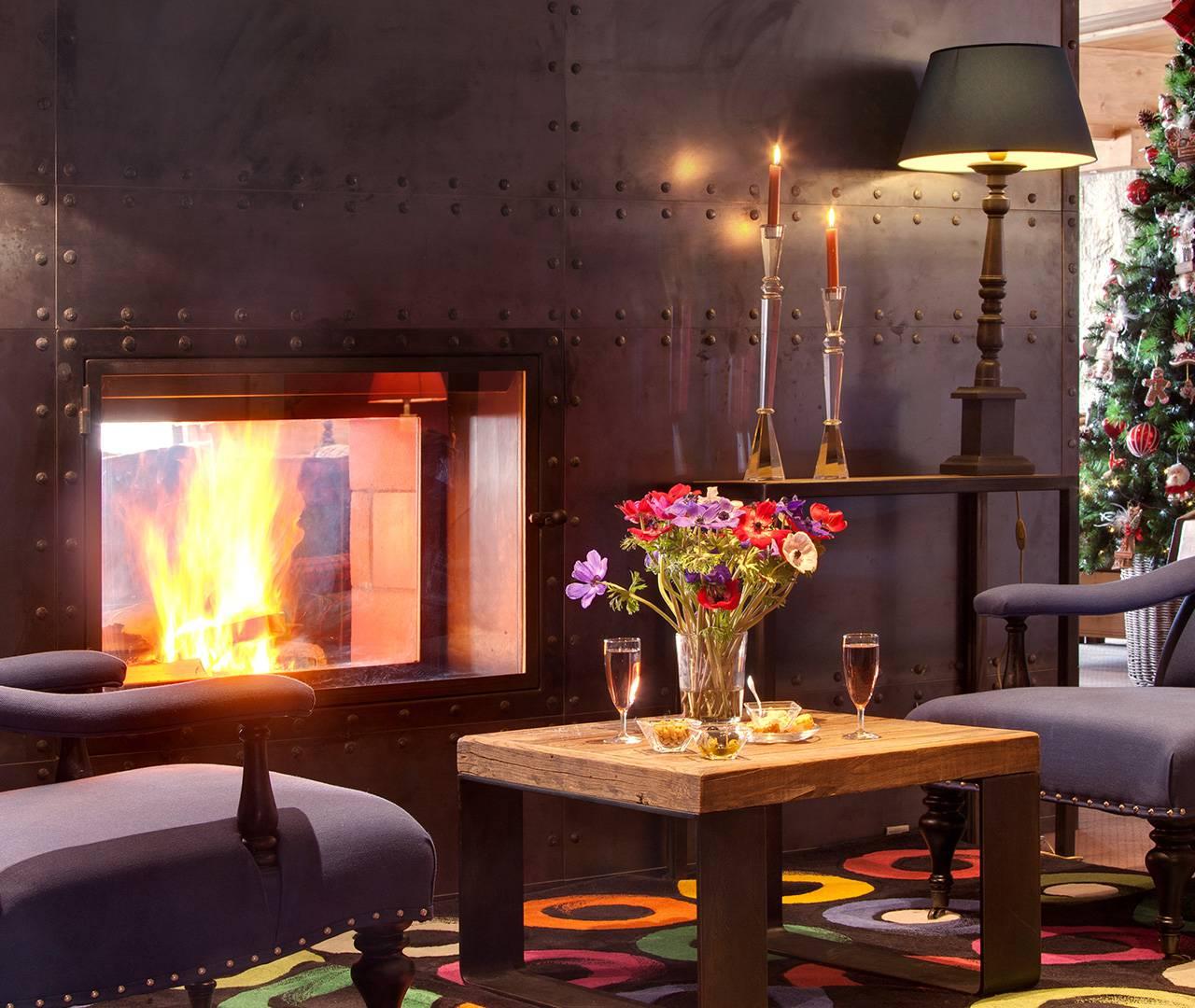 fauteuil cheminée cosy bar