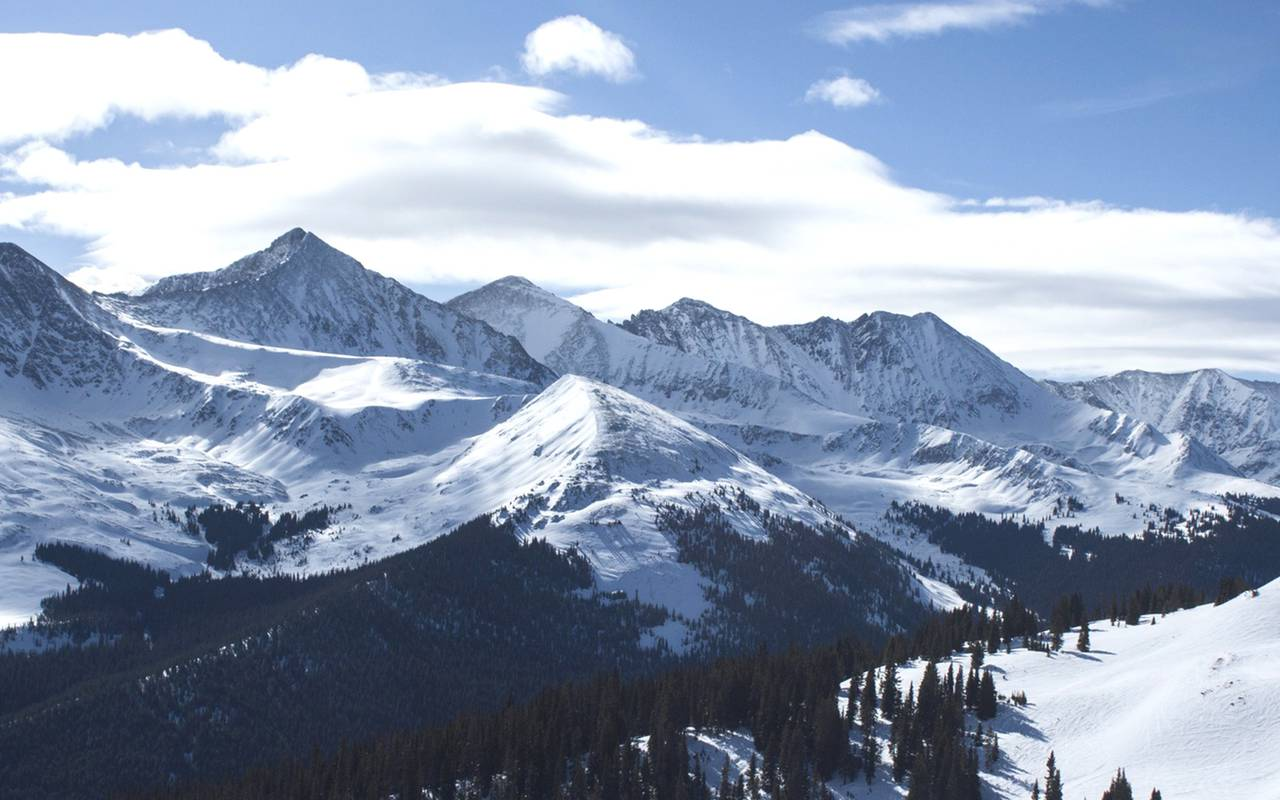 vue montagnes alpines
