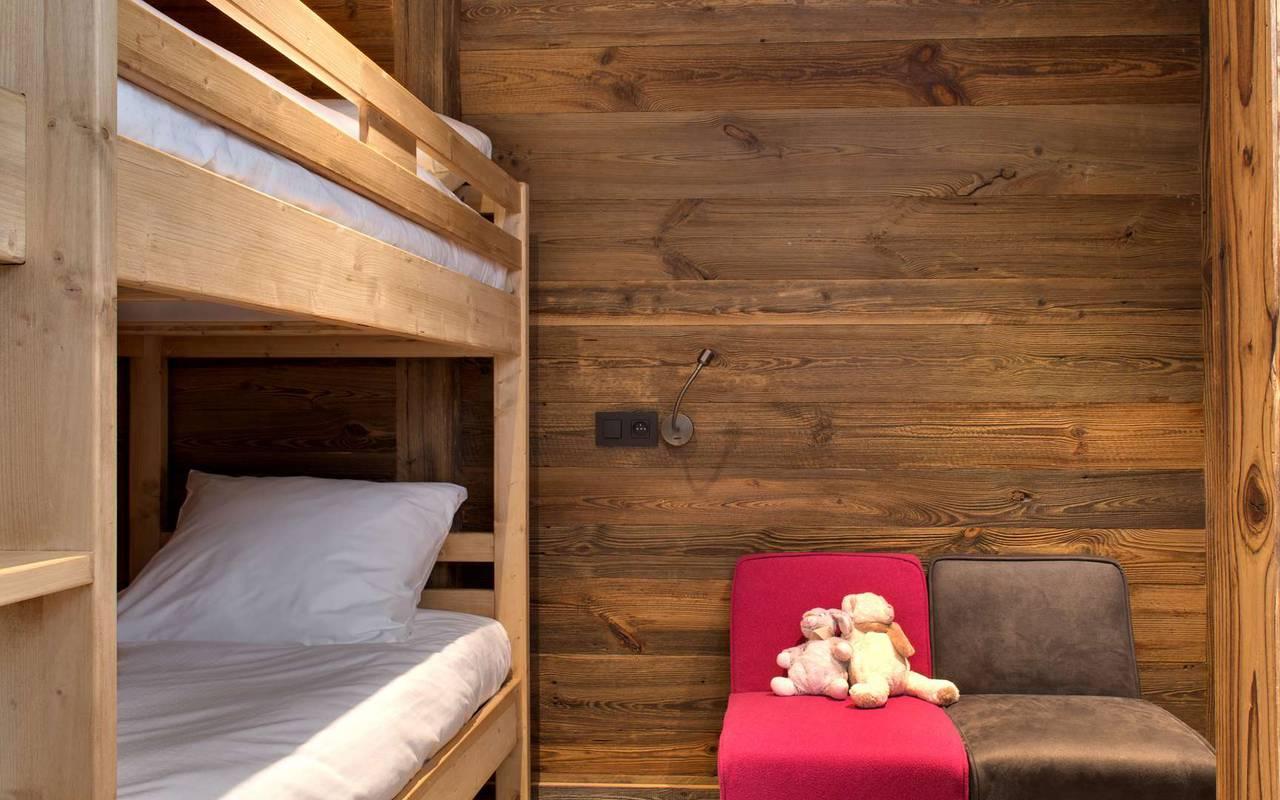 lits superposés hotel les gets