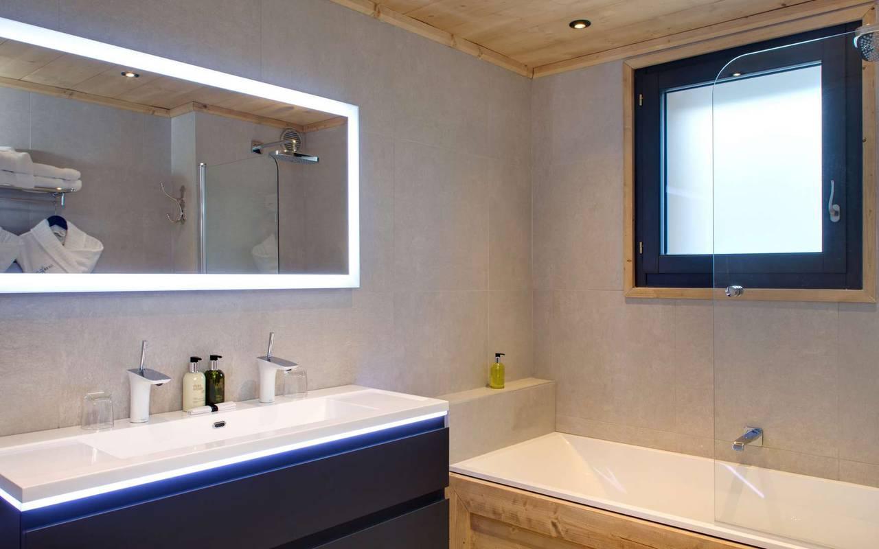 salle de bain chambre d'exception les gets