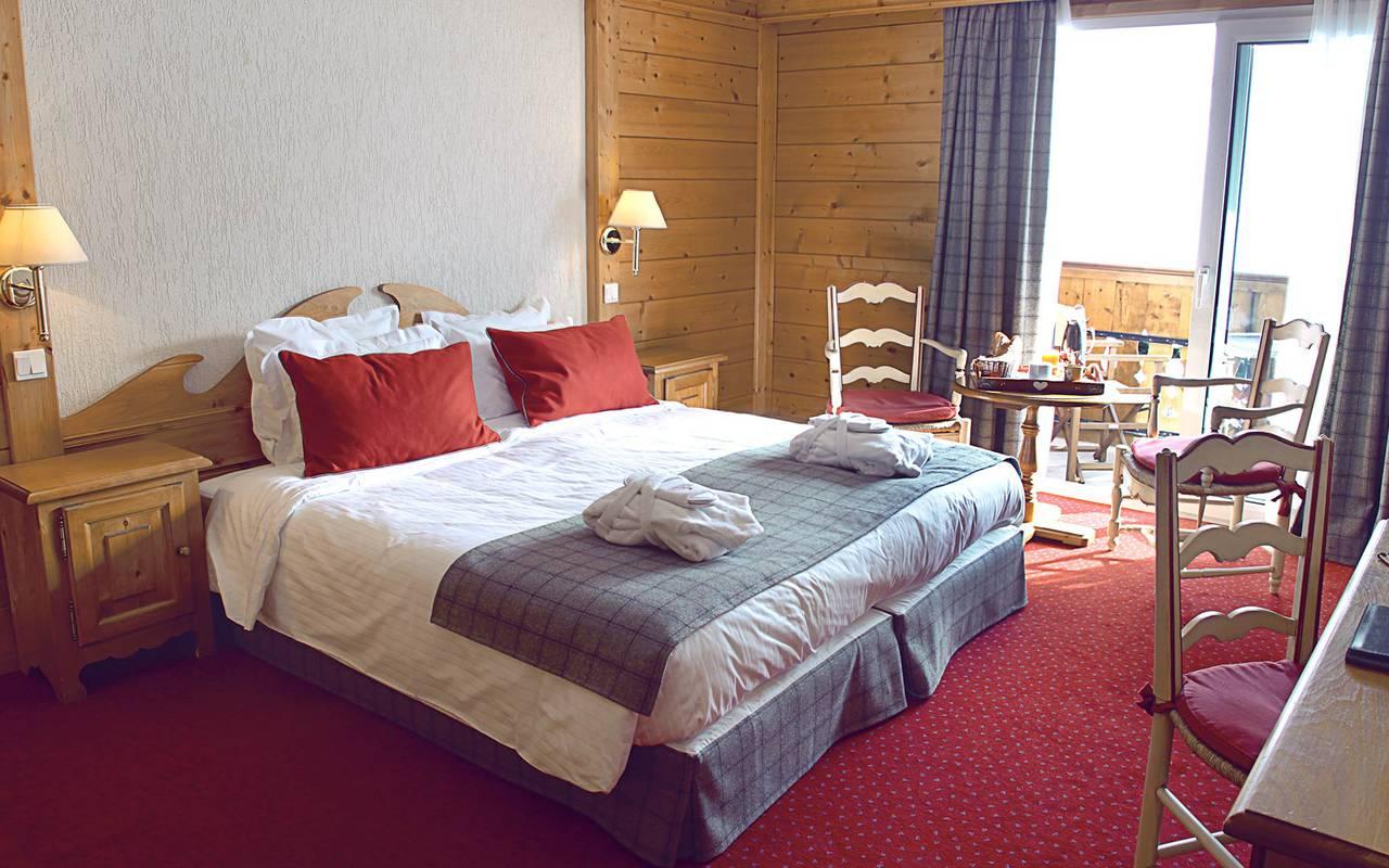 chambre 1 à 3 personnes hotel les gets