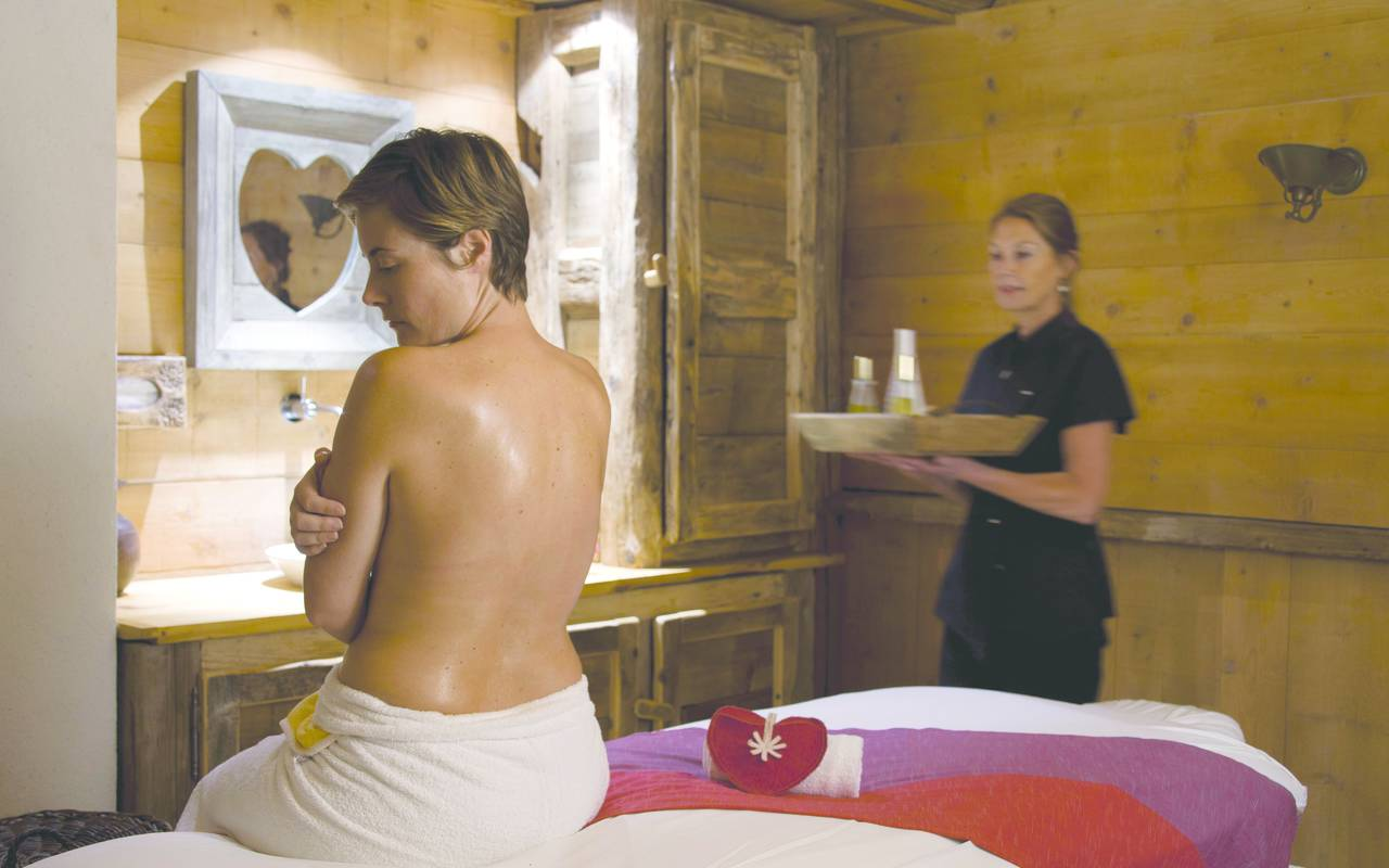 cabine massages hotel les gets